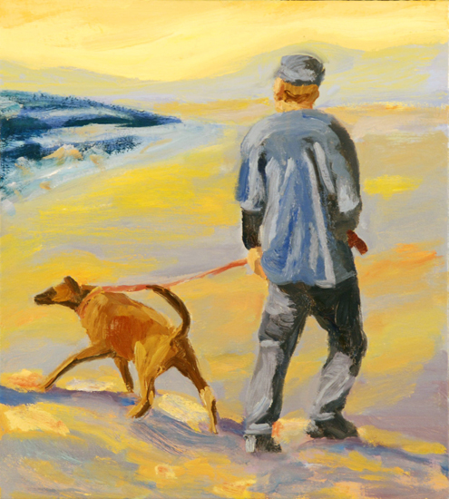 guy with dog